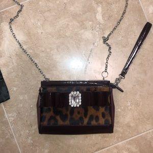 Leopard Crossbody/Wristlet purse